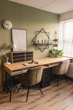 Home Office Layouts, Home Office Setup, Home Office Space, Office Interior Design, Office Interiors, Home Desk, Apartment Interior, House Rooms, Cozy House