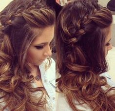 penteados para formatura cabelos com trancas semi presos
