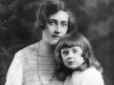 Agatha Christie and her only daughter, Rosalind.