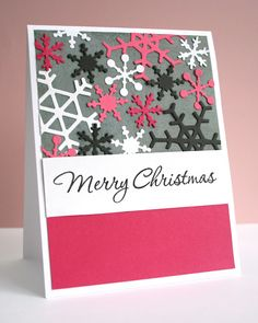 Snowflakes card,I would change the snowflakes to different shades of blue.