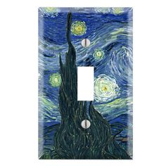 Van Gogh Starry Night Light Switch Cover Van Gogh Starry  6e46d1ab588b