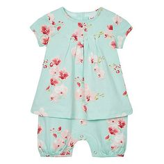 Baker by Ted Baker Baby girls' multi-coloured floral romper suit Ted Baker Baby, Romper Suit, Mother And Baby, Debenhams, Floral Romper, Dress Shoes, Rompers, Suits, Cotton