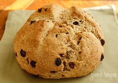 Low Fat Irish Soda Bread #bread #breakfast #raisins