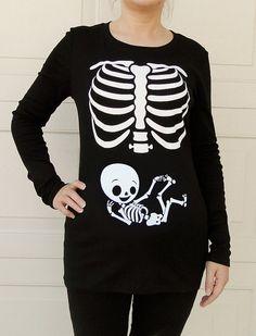 Halloween Skeleton Shirt, Halloween Costume Tshirt, Skeleton Baby BOY Pregnancy maternity Shirt on Etsy, $34.99