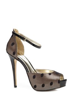 dotted peep toe shoes