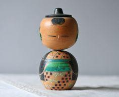 Printable Kokeshi Dolls | Vintage Kokeshi Doll- Modish Vintage