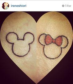 i like the minnie mouse tattoo very simple