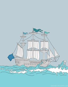 Free Sail Away printable by www.irocksowhat.com