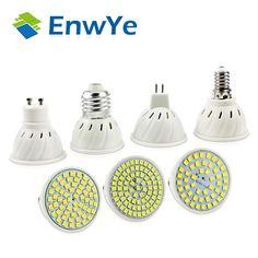new arrival E27 E14 MR16 GU10 LED Bulb 110V 220V LED Lamp Spotlight 48 60 80 LED