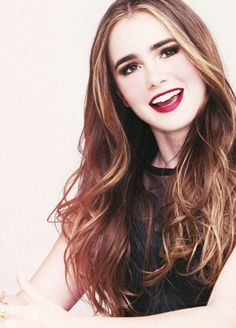 Lily Collins daughter of Phil Collins