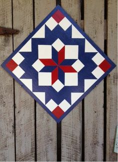 Perfect quilt to dress up an old barn.