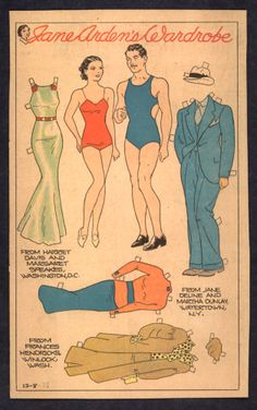 12-8-35 Jane Arden paper doll of Johnny Brown and Jane / eBay http://www.pinterest.com/maimay73/paper-dolls-vintage/