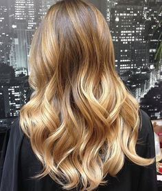 Golden+Blonde+Balayage+Hair