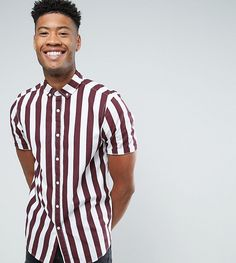 Get this Asos's striped shirt now! Click for more details. Worldwide shipping. ASOS TALL Regular Fit Stripe Shirt In Burgundy - Red: Shirt by ASOS TALL, Woven cotton, Striped print, Button-down collar, Button placket, Regular fit - true to size, Machine wash, 100% Cotton, Our model wears a size Medium Long and is 193cm/6'4 tall. Your complete guide to longer lengths has arrived. Designed to fit guys 6�3�/1.92m and above, ASOS TALL has styles to sort any situation. From smart layering to y...