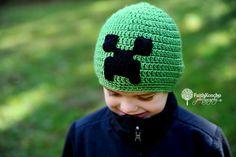 Minecraft Creeper beanie -  Minecraft creeper hat cap- Crochet teen hat - Boys Hats, Boy Hat