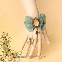 Gothic Fantasy Fairy Bracelet with Ring Set Goth by NewColorLife, $13.50