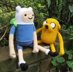 PDFs of Finn and Jake Amigurumi Patterns. $8.00, via Etsy.
