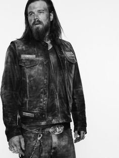 Opie! Sons of Anarchy, SAMCRO, SOA, bikers, brothers, family, great tv, portrait, photo b/w