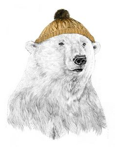 A bobble hat is essential for life in the Arctic!