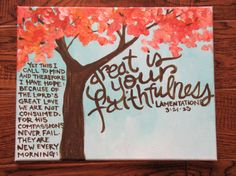 Tree Painting with verse by brittanyingram on Etsy, $60.00