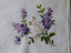 du lilas sur un mouchoir - beautiful !!!!