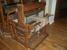 Oak Handmade loom by C.H. Cross in the mid 40's. Very nice 10 shaft loom. A great addition to our studio until someone purchases it.