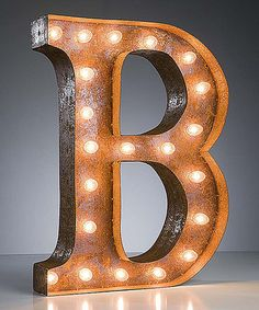 Love this 24'' B Vintage Marquee Light on! #zulilyfinds Hey Girls, they have all letters for your wedding