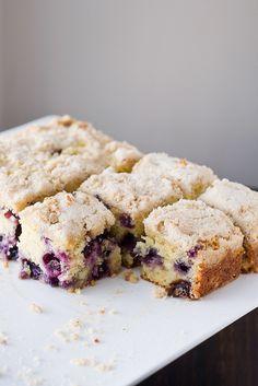 Blueberry Cornmeal Butter Cake (sub GF flour blend)