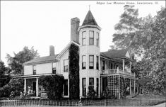 Edgar Lee Masters home by David Witter. Lewistown, Illinois