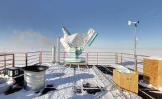 El Telescopio del Polo Sur (SPT) Que pasada... Explorando la Antártida con Google Street View  http://cazaimagenes.es/explorando-la-antartida-con-google-street-view/