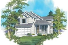 Friendly Two Story Country Plan with Front Porch. Plan 2146J The Ashford is a 1840 SqFt Traditional style home plan featuring and Formal Dining Room by Alan Mascord Design Associates. View our entire house plan collection on Houseplans.co.