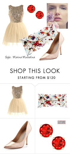 """Coctail evening look 02"" by imagemaker-mustafina on Polyvore featuring мода, VBH, Charles David, NewYears, dress, cocktail, evening и newyear"