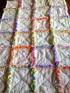 Celebrate Quilts and More...: Rag quilt para Juana