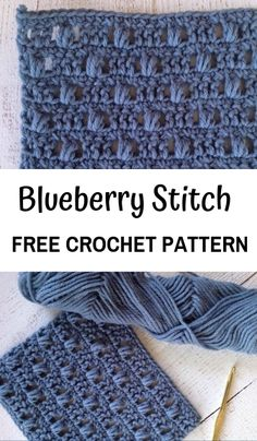 Free Crochet Pattern for the Blueberry Stitch! Learn how to crochet bobbles with this easy crochet tutorial. How to Crochet the Blueberry Stitch—Free Crochet PatternRachel, 12 Jan PM I'm excited to share with you the crochet stitch in my crochet Beau Crochet, Stitch Crochet, Crochet Simple, Double Crochet, Crochet Crafts, Crochet Projects, Crochet Ideas, Diy Crochet, Crochet Instructions
