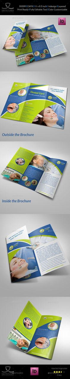 Dental Clinic Tri-Fold Brochure Vol.2 - Informational Brochures
