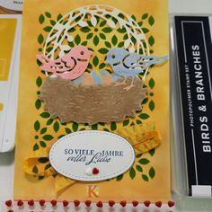 Aller schönen Dinge sind 3. Auch bei dieser Kartenidee habe ich mit den Produktpaket Birds & Branches und dem Stempelset Elegant gesagt gearbeitet. Wieder kommt diese Karte ganz ohne Aufleger aus. Der Hintergrund ist direkt auf der Grundkarte gestaltet. Die liebenden Vögel sind einfach süß. Bei der Schritt-für-Schritt-Anleitung habe ich Euch auf meiner Webseite die 3 wichtigsten Tipps zusammengefasst. Elegant, Website, Tutorials, Projects, Creative, Simple, Tips, Classy, Chic