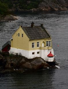 Lighthouses of Norway: Bergen Area Oslo, Beautiful Norway, Small Tiny House, Cabana, Light Of The World, Lighthouse, Alaska, The Good Place, Places To Go