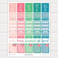 These printable weekly planner stickers are perfect for the vertical Erin Condren Life Planner but of course, they can be used in other types of planners as well. Organize your routine with these beautiful ready to print stickers! ❤ Full box size: 1.5 (width) x 1.875 (height) inches. And you know whats fun about printable stickers? You can print and use them as often as you like! PLEASE NOTE: 1. This is a digital product – no physical item will be shipped to you. These stickers are meant ...