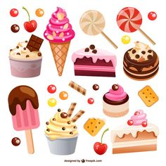 Ideas for cupcakes drawing sweets Sweets Clipart, Cupcake Drawing, Food Drawing, Candy Store, Food Illustrations, Candyland, Cute Food, Happy Planner, Food Art