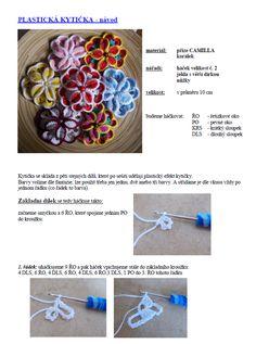 plastická kytička | Návody na háčkované hračky