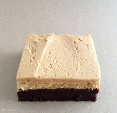 brownies + peanut butter frosting