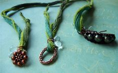 Silk ribbon necklaces: How to finish the ends