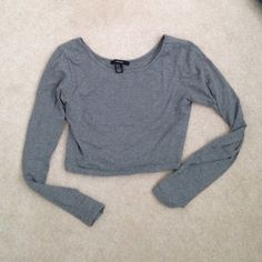 F21 Crop Top Long sleeve crop top from Forever 21. Worn once; in perfect condition. Forever 21 Tops Crop Tops