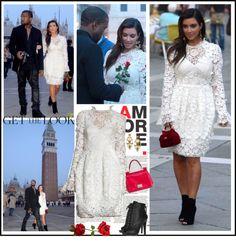 """Celebrity Style - Kim Kardashian"" by robilollo ❤ liked on Polyvore"