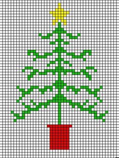 How to make a cross stitch Christmas tree card