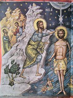 Byzantine Art, John The Baptist, Mural Art, Jesus Christ, Christianity, Saints, Princess Zelda, Sketches, Painting