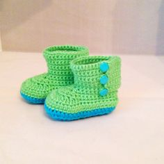 Baby Garden Boots by busyhermits on Etsy Handmade Baby Items, Handmade Gifts, Crochet For Kids, Knit Crochet, Garden Boots, Baby Shoes, Slippers, Babies, Knitting