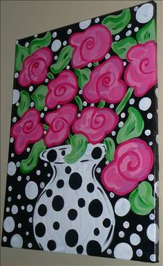 art for a girls room Wal Art, Wine And Canvas, Arte Floral, Art Party, Whimsical Art, Art Plastique, Painting Inspiration, Art Lessons, Painting & Drawing