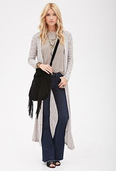 Rib Knit Maxi Cardigan | FOREVER21 | #foreverfestival