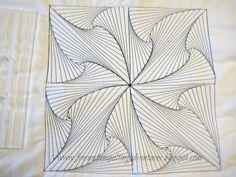 Zentangle based quilt block